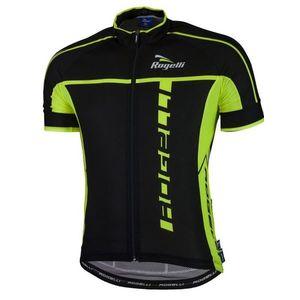 Ultraľahký cyklistický dres Rogelli UMBRIA 2.0 s krátkym rukávom, čierno-reflexná žltý 001.247. vyobraziť