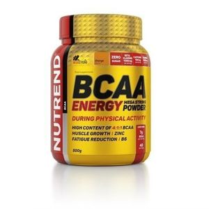 BCAA Energy Mega Strong Powder - Nutrend 20 x 12, 5 g Orange vyobraziť