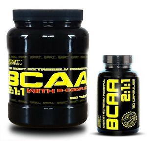 BCAA 5000 + BCAA 2: 1: 1 Zadarmo od Best Nutrition 250 tbl. + 120 kaps. vyobraziť
