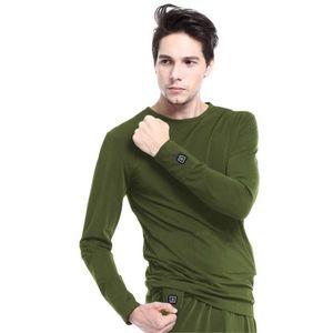 Vyhrievané tričko s dlhým rukávom Glovii GJ1C zelená - XL vyobraziť