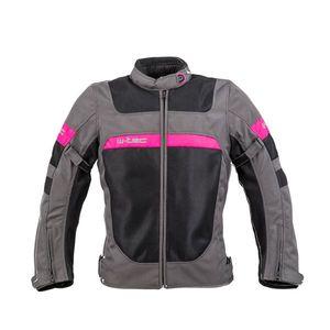 Dámska letná moto bunda W-TEC Monaca Black Mesh-Pink - 3XL vyobraziť
