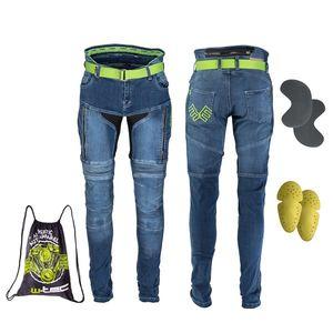 Pánske moto jeansy W-TEC Grandus modrá - 38/36 vyobraziť