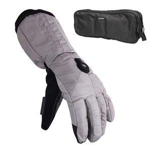Vyhrievané lyžiarske a moto rukavice Glovii GS8 šedá - XL vyobraziť