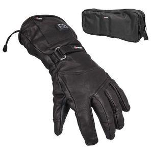 Kožené vyhrievané lyžiarske a moto rukavice Glovii GS5 čierna - XL vyobraziť
