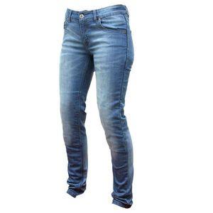 Dámske moto jeansy Spark Dafne modrá - 4XL vyobraziť