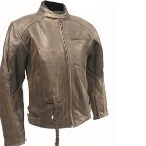 Kožená moto bunda BOS 2058 hnedá hnedá - 4XL (46 kúskov) - SportSport.sk bd76ab7489c