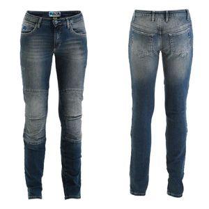 Dámske moto jeansy PMJ Florida MID CE modrá - 34 vyobraziť