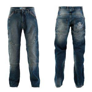 Pánske moto jeansy PMJ Boston Swot modrá - 40 vyobraziť