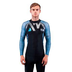 Pánske tričko pre vodné športy Aqua Marina Division šedá - M vyobraziť