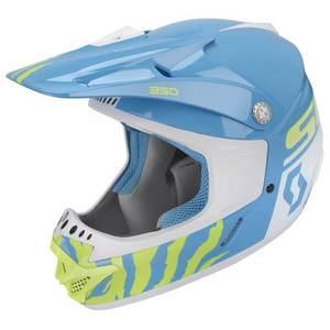 Detská motokrosová prilba SCOTT 350 Race Kids MXVII blue-white - M (49-50) vyobraziť