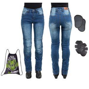 Dámske moto jeansy W-TEC Lustipa modrá - 3XL vyobraziť