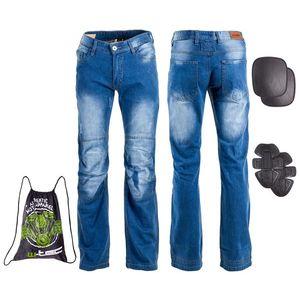 Pánske moto jeansy W-TEC Shiquet modrá - 6XL vyobraziť