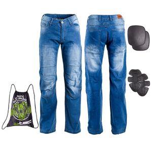Pánske moto jeansy W-TEC Davosh modrá - 6XL vyobraziť