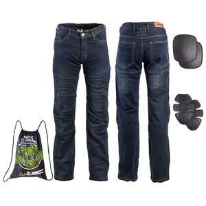 Pánske moto jeansy W-TEC Pawted tmavo modrá - 5XL vyobraziť