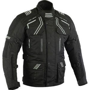 Pánska touringová moto bunda BOS Temper čierna - 5XL vyobraziť