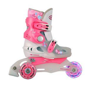 Detské kolieskové korčule WORKER TriGo Skate LED - so sv. kolieskami modrá - XS (26-29) vyobraziť