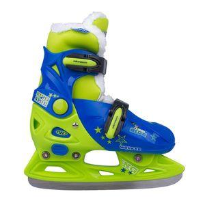 Chlapčenské zimné korčule WORKER Kelly Pro Boy - s kožušinkou modro-zelená - S (33-36) vyobraziť