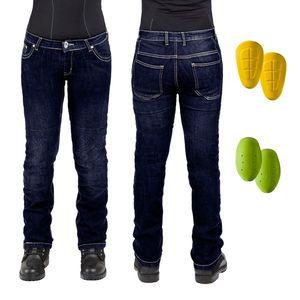 Dámske moto jeansy W-TEC C-2011 modré modrá - 35 vyobraziť