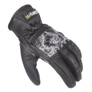 Dámske kožené moto rukavice W-TEC Polcique NF-4206 čierno-biela - XL vyobraziť