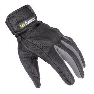 Letné kožené moto rukavice W-TEC Nyarra NF-4150 šedá - XXL vyobraziť