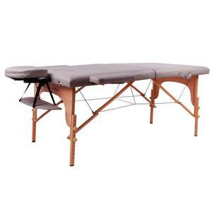 Masážne lehátko inSPORTline Taisage 2-dielne drevené hnedá vyobraziť