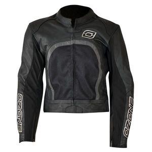 Kožená bunda Ozone Evotec čierna - XXL vyobraziť
