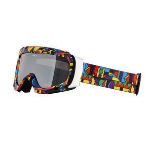 Lyžiarske okuliare WORKER Cooper s grafikou farebná grafika vyobraziť