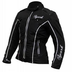 Dámska textilná moto bunda Spark Nora čierna - 4XL vyobraziť