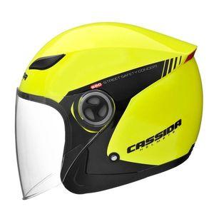 bc5dc1f0c1 Moto prilba Cassida Reflex Safety čierna-fluo žltá - XL (61-62)