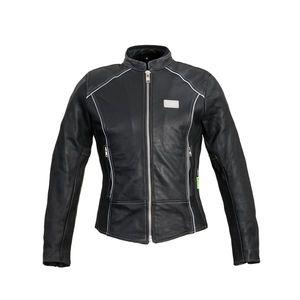 Dámska kožená moto bunda W-TEC Hagora matne čierna - XXL vyobraziť