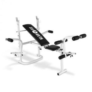 KLARFIT HB3BC-W, tréningová lavica, posilňovanie rúk, nôh, odkladacia plocha, biela vyobraziť