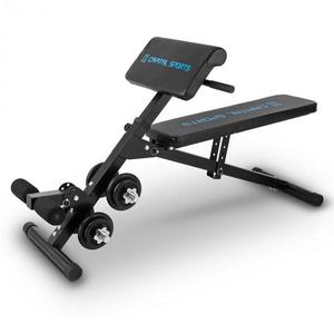 Capital Sports Sit'n Curl, Sit Up lavička so sadou činiek vyobraziť