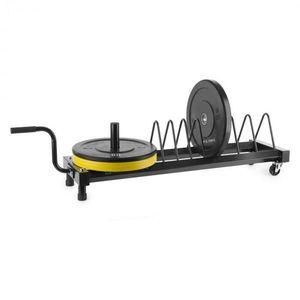 Capital Sports Plarak, stojan na kotúčové závažia, transportné kolieska, 500 kg max. vyobraziť