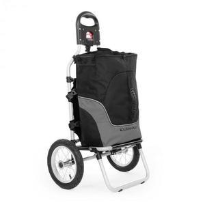 DURAMAXX Carry Grey, cyklovozík, vozík za bicykel, ručný vozík, max. nosnosť 20 kg, čierno-sivý vyobraziť