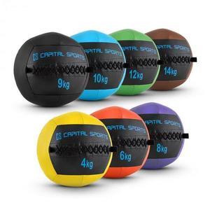 Capital Sports Epitomer Wall Ball Set, 4 kg, 6 kg, 8 kg, 9 kg, 10 kg, 12 kg, 14 kg vyobraziť