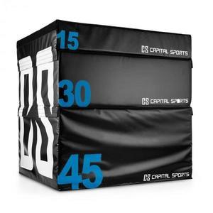 Capital Sports Rookso Set Soft Jump Box, plyobox, čierny, 15/30/45 cm, 3 kusy vyobraziť