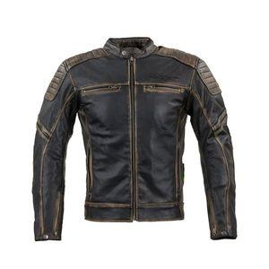 Kožená moto bunda W-TEC Mungelli vintage hnedá - 6XL vyobraziť