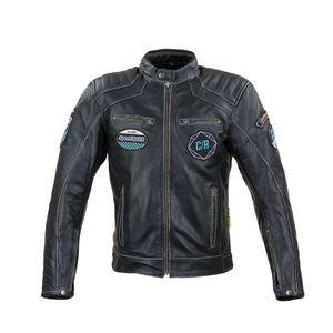 Kožená moto bunda W-TEC Losial čierna - 6XL vyobraziť