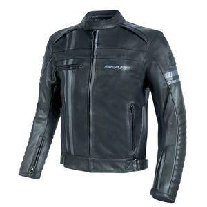Pánska kožená moto bunda Spark Brono Evo čierna - 6XL vyobraziť