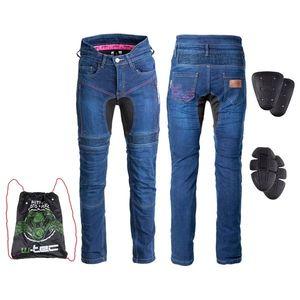 Dámske moto jeansy W-TEC Biterillo Lady modrá - 5XL vyobraziť
