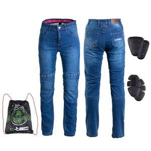 Dámske moto jeansy W-TEC GoralCE modrá - 3XL vyobraziť