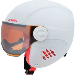 Alpina Sports CARAT LE VISOR biela (54 - 58) - Detská lyžiarska prilba vyobraziť