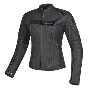 Dámska kožená moto bunda Spark Virginia čierna - 4XL vyobraziť