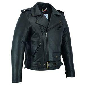Kožená moto bunda BSTARD BSM 7830 čierna - 5XL vyobraziť