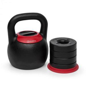 KLARFIT Adjustabell, nastaviteľný kettlebell, hmotnosť: 8/10/12/14/16 kg, čierny/červený vyobraziť