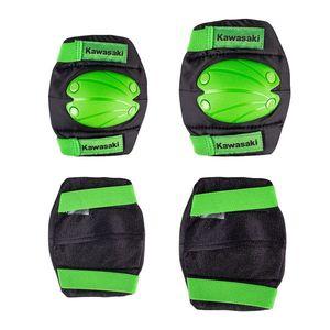 Súprava detských chráničov Kawasaki Purotek zelená - L vyobraziť