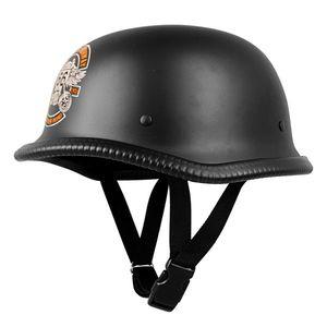 Retro otevřená moto helma Sodager Route 66 XXL (63-64) vyobraziť