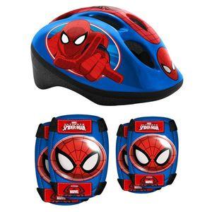 Spiderman sada prilba + chrániče pre deti vyobraziť