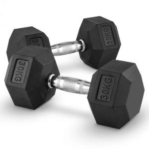 Capital Sports Hexbell 30 Dumbbell, pár jednoručných činiek, 30 kg vyobraziť