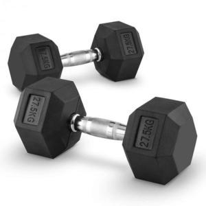 Capital Sports Hexbell 27.5 Dumbbell, pár jednoručných činiek, 27.5 kg vyobraziť